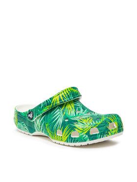 Crocs Crocs Klapki Classic Tropical Clog 207179 Zielony