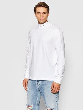 Calvin Klein Jeans Calvin Klein Jeans Тениска с дълъг ръкав J30J319313 Бял Regular Fit