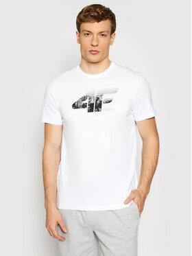 4F 4F T-Shirt H4L21-TSM024 Biały Regular Fit