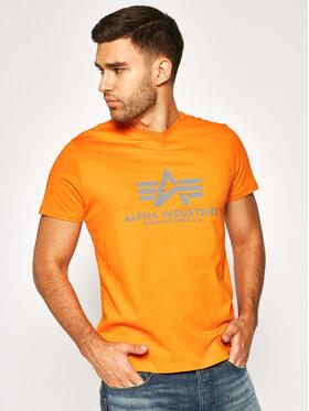 Alpha Industries Alpha Industries Marškinėliai Basic 100501 Oranžinė Regular Fit