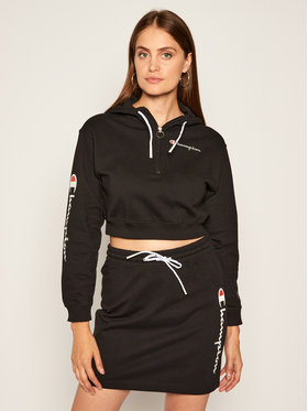 Champion Champion Sweatshirt Half Zip-Up Script Logo 112641 Schwarz Custom Fit