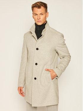 Joop! Joop! Vlnený kabát 17 JC-21Maron 30022586 Sivá Slim Fit