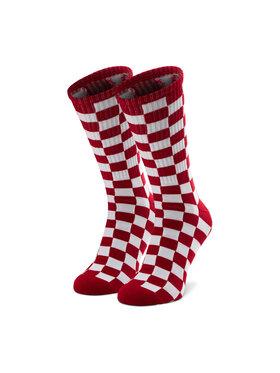 Vans Vans Vysoké pánske ponožky Checkerboard Crew VN0A3H3ORLM1 Červená