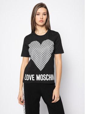 LOVE MOSCHINO LOVE MOSCHINO Póló W4F152CM 3876 Fekete Regular Fit