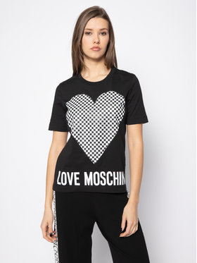 LOVE MOSCHINO LOVE MOSCHINO Тишърт W4F152CM 3876 Черен Regular Fit