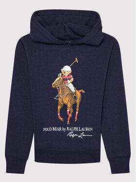 Polo Ralph Lauren Polo Ralph Lauren Μπλούζα Ls Po Hood 323853795003 Σκούρο μπλε Regular Fit