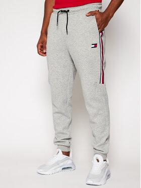 Tommy Sport Tommy Sport Spodnie dresowe Cuffed Fleece S20S200518 Szary Regular Fit