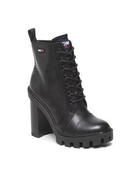 Tommy Jeans Tommy Jeans Botki Branded Taoe High Heel Boot EN0EN01544 Czarny