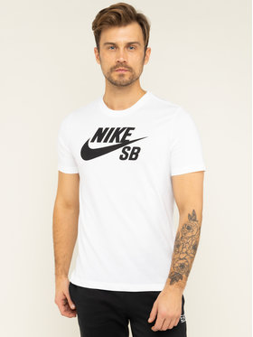 Nike Nike T-Shirt SB Dry Defect Logo AR4209 Biały Standard Fit