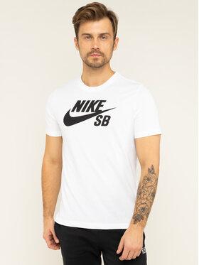 NIKE NIKE Tricou SB Dry Defect Logo AR4209 Alb Standard Fit