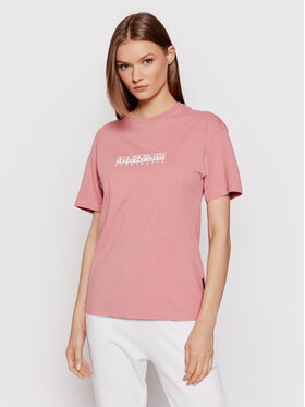Napapijri Napapijri T-shirt S-Box NP0A4FSM Ružičasta Regular Fit