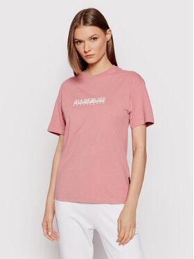 Napapijri Napapijri T-Shirt S-Box NP0A4FSM Růžová Regular Fit
