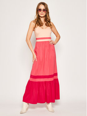 My Twin My Twin Sukienka letnia 201MT2060 Różowy Regular Fit