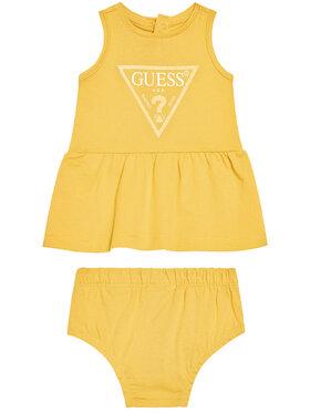 Guess Guess Kleid für den Alltag A01K15 K82F0 Gelb Regular Fit
