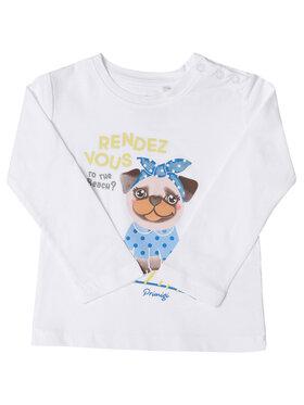 Primigi Primigi Μπλουζάκι St Tropez Bisous 45211503 Λευκό Regular Fit
