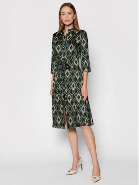 Marella Marella Košilové šaty Narrer 32261818 Zelená Regular Fit