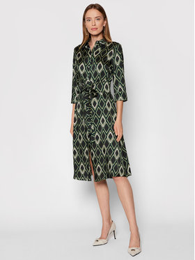Marella Marella Robe chemise Narrer 32261818 Vert Regular Fit