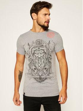 Rage Age Rage Age T-Shirt Weles Monoch Grau Slim Fit