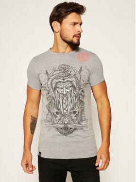 Rage Age Rage Age T-shirt Weles Monoch Grigio Slim Fit