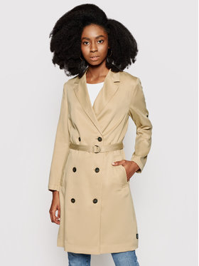 Calvin Klein Calvin Klein Płaszcz przejściowy K20K202965 Beżowy Regular Fit