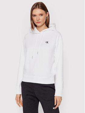 Calvin Klein Jeans Calvin Klein Jeans Majica dugih rukava Embroidered Logo J20J213178 Bijela Regular Fit