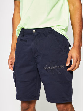 Calvin Klein Jeans Calvin Klein Jeans Pantaloncini di tessuto J30J314905 Blu scuro Slim Fit