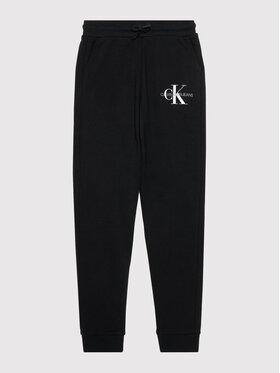 Calvin Klein Jeans Calvin Klein Jeans Spodnie dresowe Monogram Logo IB0IB00944 Czarny Regular Fit