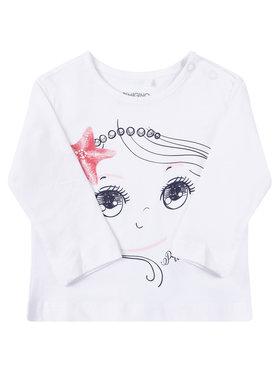 Primigi Primigi Блуза Easy Wear Girl 45216501 Бял Regular Fit
