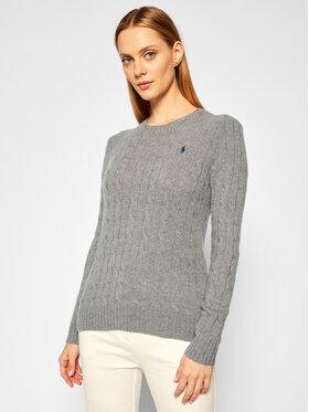 Polo Ralph Lauren Polo Ralph Lauren Sweter Julianna Wool/Cashmere 211525764009 Szary Regular Fit