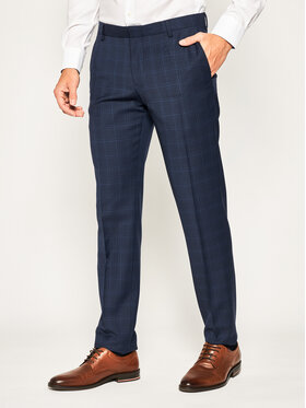Tommy Hilfiger Tailored Tommy Hilfiger Tailored Панталон от костюм Check Separate TT0TT06717 Тъмносин Regular Fit