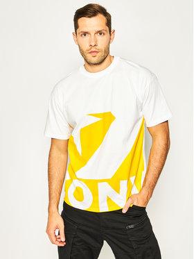 Converse Converse T-shirt Star Chevron Icon Remix 10018381-A03 Blanc Oversize