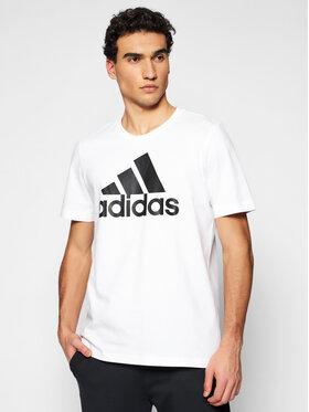 adidas adidas Tričko Essentials Big Logo GK9121 Biela Regular Fit