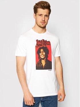 Wrangler Wrangler Marškinėliai Soul Rebel W781EE989 Balta Regular Fit