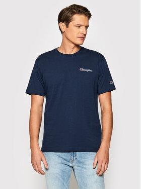 Champion Champion T-Shirt Small Script Logo 216480 Granatowy Comfort Fit