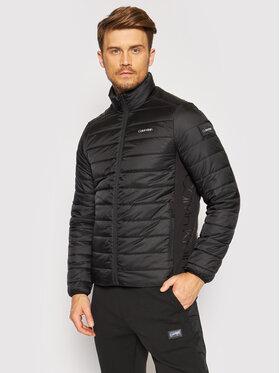 Calvin Klein Calvin Klein Пухено яке Essential Side Logo K10K107335 Черен Regular Fit