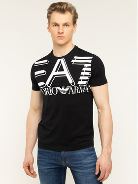 EA7 Emporio Armani EA7 Emporio Armani T-Shirt 3HPT09 PJ02Z 1200 Μαύρο Regular Fit