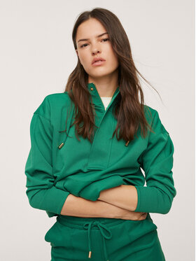 Mango Mango Bluză Florida1 17063764 Verde Regular Fit