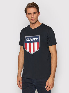 Gant Gant T-shirt Retro Shield 2003112 Noir Regular Fit