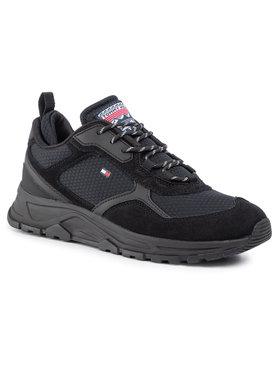 Tommy Hilfiger Sneakersy Fashion Mix Sneaker FM0FM02582 Čierna