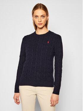 Polo Ralph Lauren Polo Ralph Lauren Sweter Julianna Wool/Cashmere 211525764008 Granatowy Regular Fit