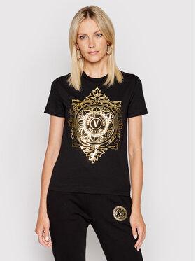 Versace Jeans Couture Versace Jeans Couture Tricou 71HAHF06 Negru Regular Fit