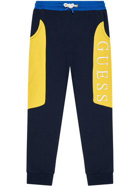 Guess Guess Pantaloni da tuta H1YJ05 KAD70 Blu scuro Regular Fit