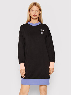 Puma Puma Плетена рокля Downtown Graphic 530845 Черен Relaxed Fit