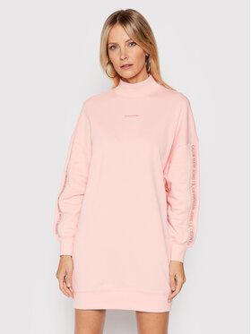 Calvin Klein Jeans Calvin Klein Jeans Плетена рокля J20J217571 Розов Oversize