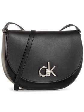 Calvin Klein Calvin Klein Дамска чанта Re-Lock Saddle Bag K60K606678 Черен