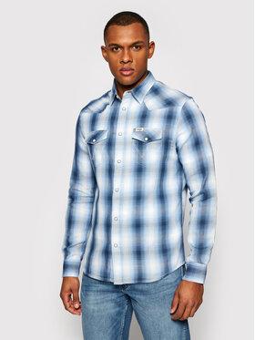 Wrangler Wrangler Hemd Western W5A09TXVT Blau Regular Fit