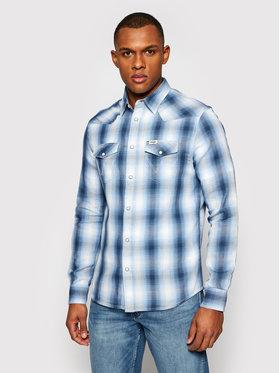 Wrangler Wrangler Marškiniai Western W5A09TXVT Mėlyna Regular Fit