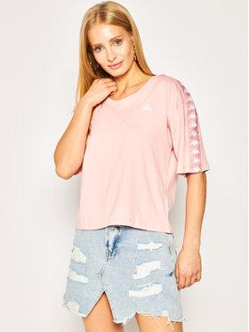 Kappa Kappa T-Shirt Glanda 307066 Różowy Oversize