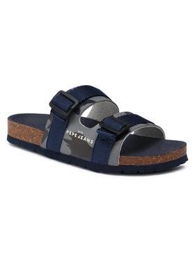 Pepe Jeans Pepe Jeans Mules / sandales de bain Bio Straps Camo PBS90046 Bleu marine