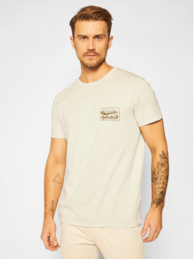 Quiksilver Quiksilver Póló Old Habit EQYZT06119 Bézs Regular Fit